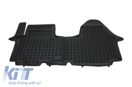 Floor mat black fits to/ NISSAN Primastar I; OPEL Vivaro I; suitable for RENAULT Trafic II 2001-2014 - 201916