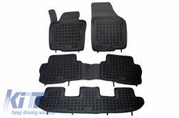 Floor mat black fits to Seat Alhambra, suitable for VW Sharan II (7 seats) 2010- - 200112