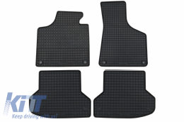Floor mat black fits to suitable for AUDI A3 (2003-2012) / A3 Sportback (09/2004-12/2012)/ S3  (01/2007-) / A3 Cabrio  (05/2008-02/2014) - 11110