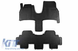 Floor mat black fits to suitable for Citroen C8 (2002-2014) Fiat ULYSSE II (2002-2010) Lancia PHEDRA (2002-2010) Peugeot 807 (2002-2014) - 201220