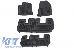 Floor mat black fits to suitable for DACIA Lodgy 2012-  - 203404