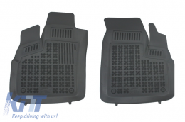 Floor mat black fits to suitable for FIAT Doblo 2006-2010  - 201509