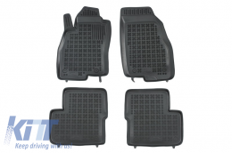 Floor mat black fits to suitable for FIAT Grande Punto 2005-  - 201506
