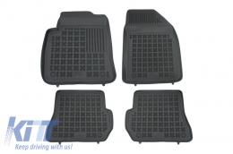 Floor mat black fits to suitable for FORD Fiesta VI 11/2005-07/2008, Fusion I 11/2005- - 200603