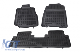 Floor mat black fits to suitable for HONDA CRV IV 2012- - 200916