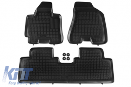 Floor mat black fits to suitable for HYUNDAI Tucson 2004-2010 - 201604