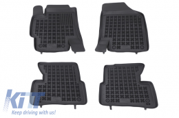 Floor mat black fits to suitable for KIA Rio II 2005-2011 - 201002