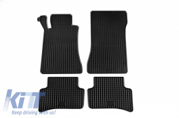 Floor mat black fits to suitable for MERCEDES W203 C-Class 2000-2007 - 46010
