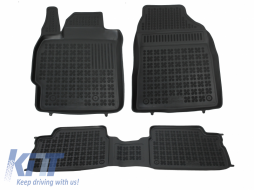Floor mat black fits to suitable for TOYOTA Auris 02/2007-2012, Corolla 10/2006-2013 - 201401