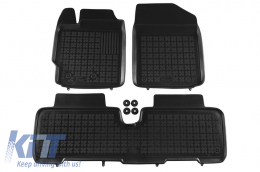 Floor mat black fits to suitable for TOYOTA Urban Cruiser 2009-, Yaris II 2005-2011  - 201409