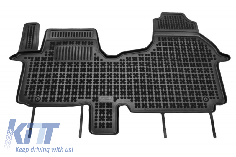 Fiat Talento /& Nissan NV300 2016- Gledring Rubber Mat Set Compatible with Renault Traffic /& Opel Vivaro 2014-2019 TK 3-Piece Profile + Mounting Clips