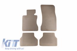 Floor mat Carpet beige suitable for BMW 5er (E60) 06/2003-02/2010, 5er (E61) Touring 05/2004-08/2010