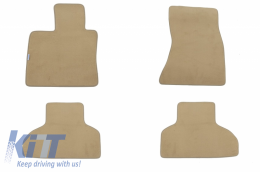 Floor mat Carpet beige suitable for BMW X5 (F15) 11/2013- - 114515009