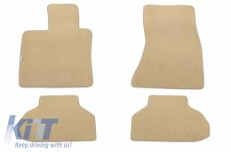 Floor mat Carpet beige suitable for BMW X6 (F16) 12/2014 - 114613909