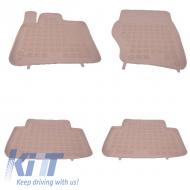 Floor mat Rubber Beige AUDI Q7 2005-2014