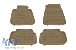 Floor mat Rubber Beige BMW Series 3 E46 E90 F30 Sedan, Touring Series 3 E46,E91 F31,  Series 4 Grand Coupe F36