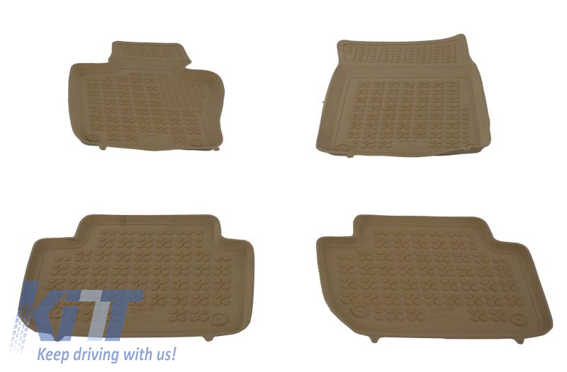 Floor Mat Rubber Beige Suitable For Bmw X3 E83 2004 2010