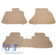 Floor mat Rubber Beige suitable for BMW X5 F15 2013-, X6 F16 2014- - 200718B