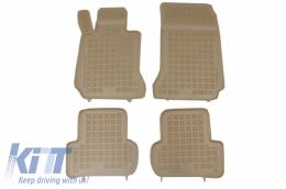 Floor mat rubber Beige suitable for Mercedes C-Class W204 (2007-2014) - 201706B
