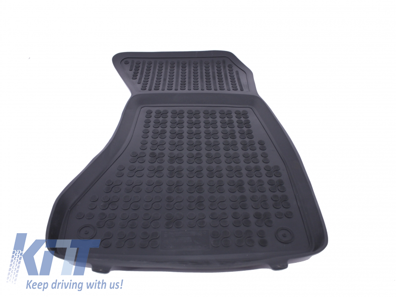 floor mat rubber black audi a4 b9 2015. Black Bedroom Furniture Sets. Home Design Ideas
