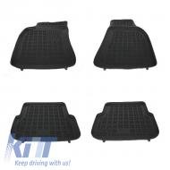 Floor mat Rubber Black AUDI A6 4F 2004-2008, A6 Avant, A6 Allroad Quattro 2004-2011