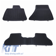 Floor mat Rubber Black BBMW X5 E70 2006-2013, X6 E71 2008-2014