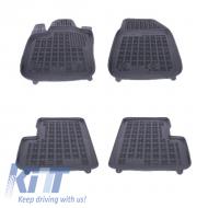Floor mat Rubber Black FIAT 500X 2014+