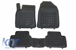 Floor mat Rubber Black HYUNDAI I30 III (PD) (2017-Up), suitable for KIA Cee'd III (CD)  (2018-up)