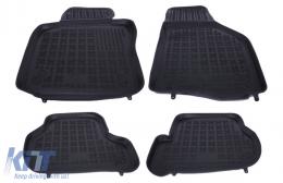 Floor mat Rubber Black SEAT Leon 1P 2005-2013, SKODA Octavia II 2004-2013, Octavia II Tour 2010+; Golf 5, Golf 6 2003-2013, Jetta 2005-2010, Scirocco III 2008+