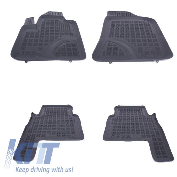 Floor Mat Rubber Black Suitable For Hyundai Santa Fe 2007 2012