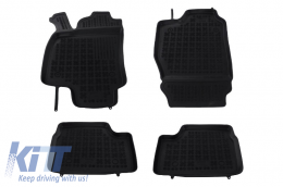 Floor mat Rubber Black suitable for OPEL Astra II G 03/1998--2009, suitable for OPEL Astra III H 04/2004-2014 - 200505