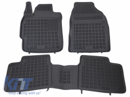 Floor mat Rubber Black suitable for TOYOTA Corolla XI 2012 - 201426