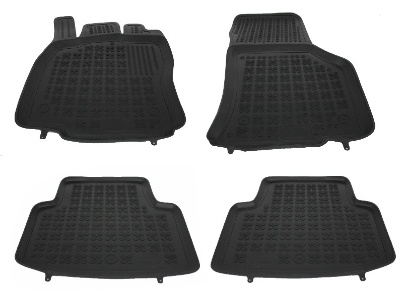 Univer Front Rubber Floor Mats VW Caddy Alltrack 2015-2018