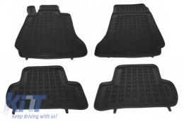 Floor mat rubber MERCEDES C-Class W204 2007-2014 Black