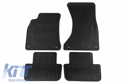 Floor Mat Rubber suitable for AUDI A4 11/2007-09/2015, A4 Avant 05/2008-09/2015, A4 Allroad 2009-05/2016, A5 Sportback 09/2009-12/2016 - 13310