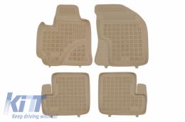 Floor Mats Rubber Beige suitable for Toyota RAV4 II Facelift (2004-2005) 5 Doors - 201422B