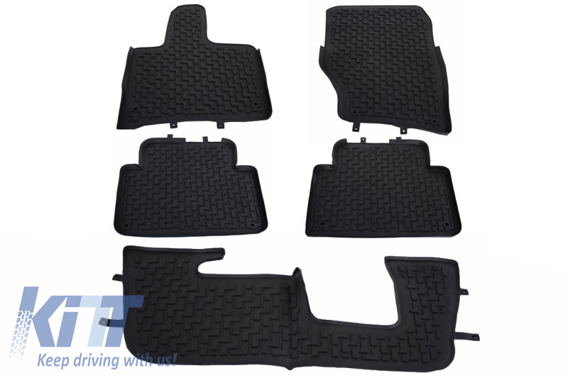 Floor Mats Rubber Mats Audi Q7 4l 2006 2015 5 7 Seats Black
