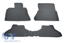 Floor Mats Rubber Mats suitable for BMW X6 E71 (2008–2014) Anthracite Grey - 0001800GR