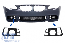 Fog Light Covers BMW 5 Series F10/F11 NON-LCI & LCI (2010-2017) suitable for Bumper M-Technik LCI Design - SGBMF10LCI