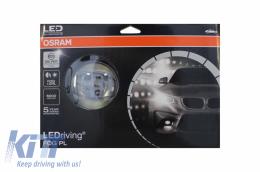 Fog Light Projectors Osram suitable for Citroen C4 C5 C6 Picasso / Dacia Dokker Duster Lodgy Logan Sandero Solenza / Daihatsu / Ford / Jaguar / Honda Civic / Land Rover / Mitsubishi / Nissan  / Opel - LEDFOG103-SR