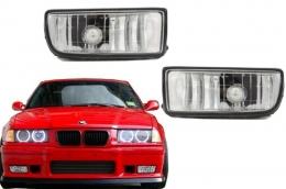 Fog Lights Lamps BMW 3 Series E36 1991-2000 Glass Chrome Lens