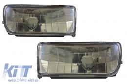 Fog Lights Lamps suitable for BMW 3 Series E36 1991-1999 Glass Smoke Lens - NLB01JB