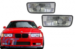 Fog Lights Lamps suitable for BMW 3 Series E36 1991-2000 Glass Chrome Lens - NLB01DC