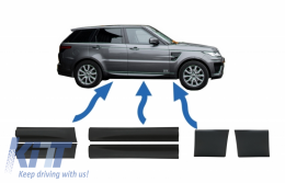 Front and Rear Lower Door Moldings & Front Lower Fender Moldings suitable for Land Rover Sport L494 (2013-up) Black - COLBR14032