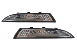 Front Blinker Indicator with Daytime Running Lights Volkswagen Scirocco III (2009-up) Chrom - V-170605