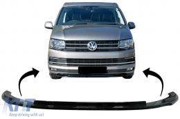 Front Bumper Add-on Spoiler Lip suitable for VW Transporter T6 (2015-up) Glossy Black - FBSVWT6OE