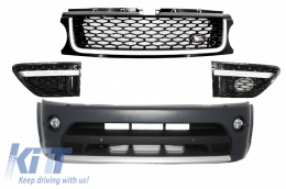 Front Bumper and Front Grilles Assembly All Black Land Rover Range Rover Sport (2009-2013) L320 - COFBRRSABB