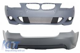 Front Bumper and Rear Bumper PDC BMW 5 Series E60 07-10 M-Technik Design - COCBBME60MTP18WFTP