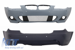 Front Bumper and Rear Bumper with PDC 18mm BMW 5 Series E60 07-10 LCI M-Technik Design - COCBBME60MTP18WFTH