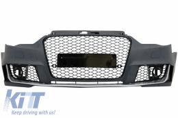 Front Bumper Audi A3 8V (2012-2015) Hatchback Sportback RS3 Brilliant Black Design - FBAUA38VRH